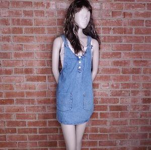Pull & Bear Denim Bib Overall Jean Dress